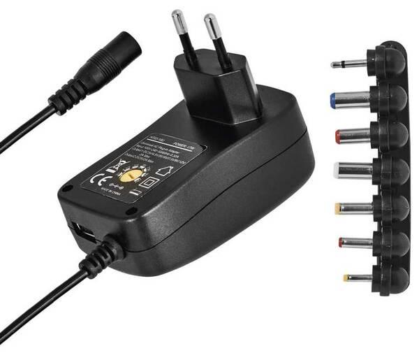 Sieťový adaptér EMOS 1000mA s hřebínkem, pulzní, USB (N3111)