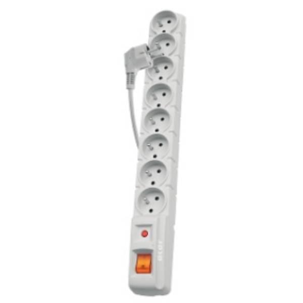 Přepěťová ochrana EMOS P53898, 1,5 m, 8 zásuvek (S8) šedá