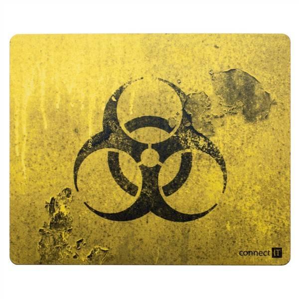 Podložka pod myš Connect IT Biohazard CI-194 (CI-194) černá/žlutá