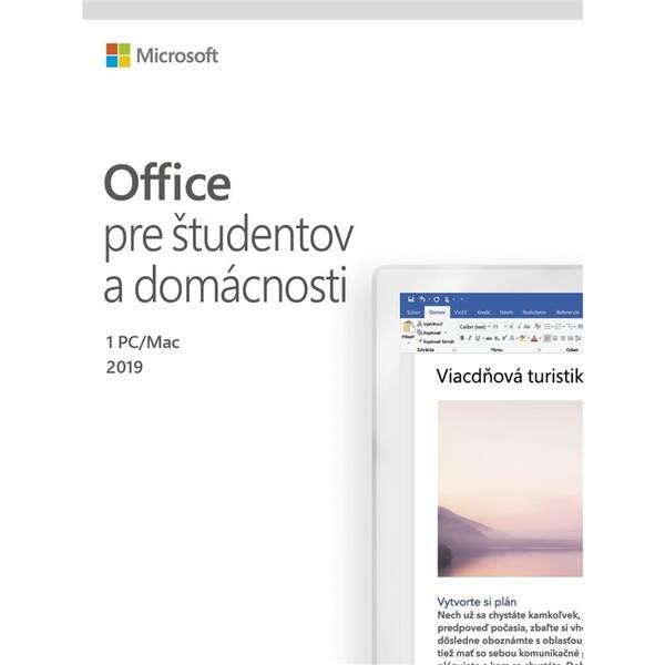 Software Microsoft Office 2019 pre študentov a domácnosti SK (79G-05073)