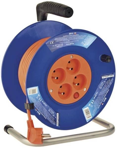 Kabel prodlužovací na bubnu EMOS 4x zásuvka, 25m (1908142500)