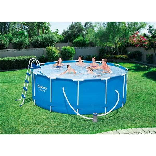 baz n bestway steel frame pool 366 x 122 cm 56420 56420. Black Bedroom Furniture Sets. Home Design Ideas
