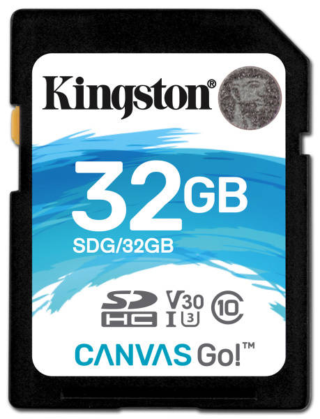 Paměťová karta Kingston Canvas Go! SDHC 32GB UHS-I U3 (90R/45W) (SDG/32GB)