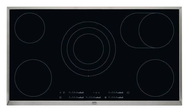 Sklokeramická varná deska AEG Mastery HK955070XB černá/nerez/sklo