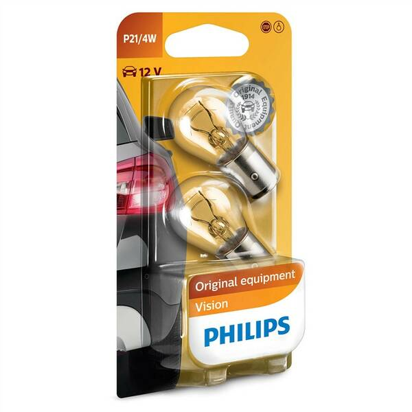 Autožárovka Philips Vision P21/4W, 2ks (12594B2)