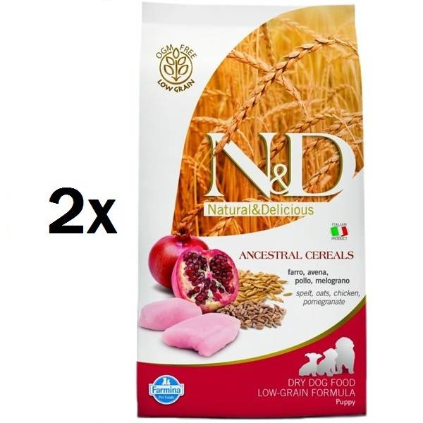 Granule N&D Low Grain DOG Puppy Chicken & Pomegranate 2 x 12 kg