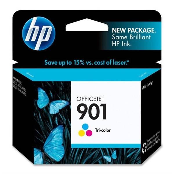 Inkoustová náplň HP No. 901, 360 stran - originální (CC656AE) červená/modrá/zelená
