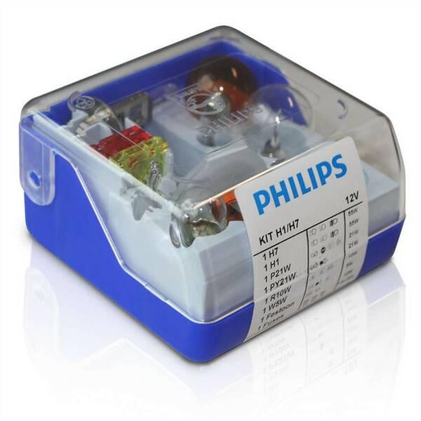 Sada Philips náhradních autožárovek H1/H7 (55010SKKM)