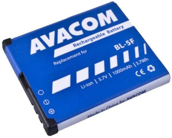 Batéria Avacom pro Nokia N95, E65, Li-Ion 3,6V 1000mAh (náhrada BL-5F) (GSNO-BL5F-S1000A)