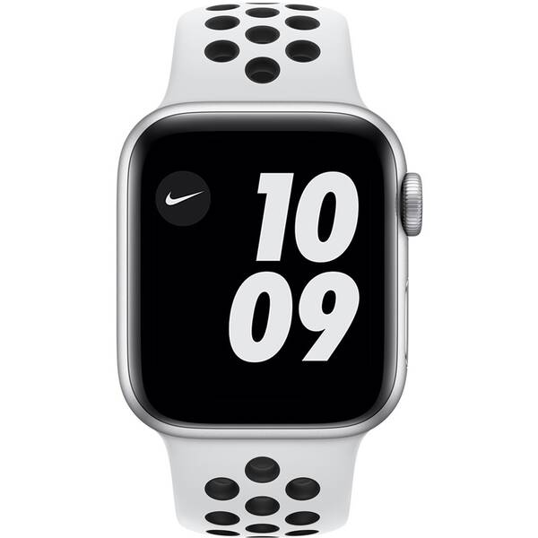 Inteligentné hodinky Apple Watch Nike Series 6 GPS 40mm púzdro zo strieborného hliníka - platinový/čierny športový remienok Nike (M00T3VR/A)