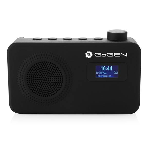 Radiopřijímač s DAB GoGEN DAB 502 černý (vrácené zboží 8800490365)