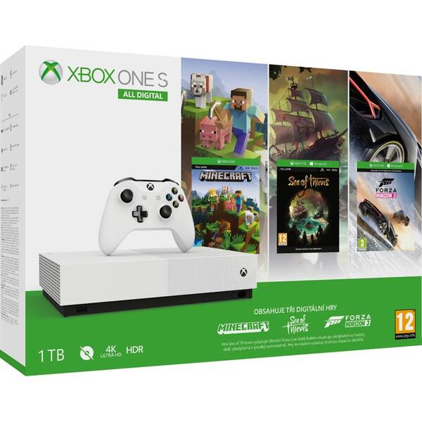 Herná konzola Microsoft Xbox One S 1 TB All-Digital Edition (NJP-00033)