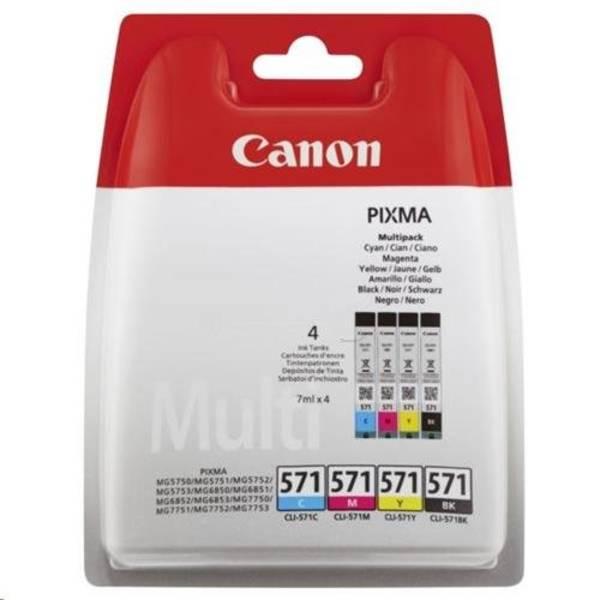 Cartridge Canon CLI-571 C/M/Y/BK (0386C005) čierna/červená/modrá/žltá