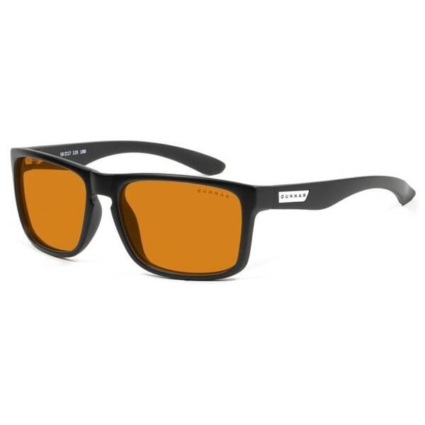 Herné okuliare GUNNAR Intercept Onyx, jantarová skla AMBER MAX (INT-00112) čierne