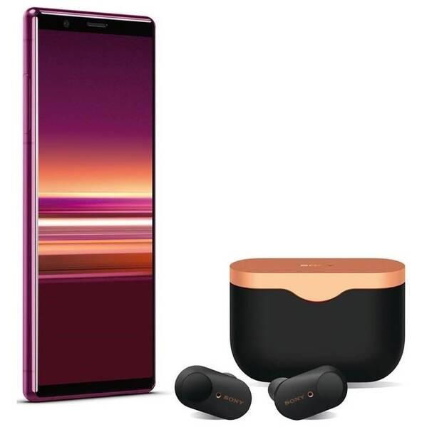 Mobilní telefon Sony Xperia 5 + sluchátka Sony WF-1000XM3 (1320-4792) červený