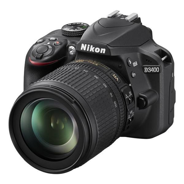 Digitální fotoaparát Nikon D3400 + 18-105 AF-S VR + 4x čištění čipu zdarma (VBA490K003) černý (vrácené zboží 2540007105)