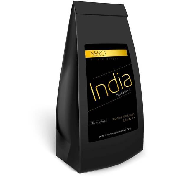 Káva zrnková Nero Caffé Indie Plantation A, 250 g (407769)