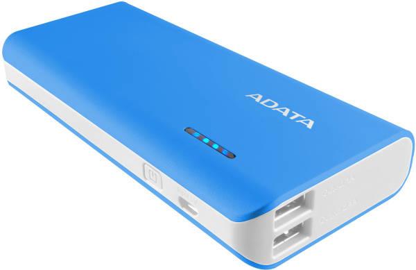 Power Bank ADATA PT100 10000mAh (APT100-10000M-5V-CBLWH) modrá