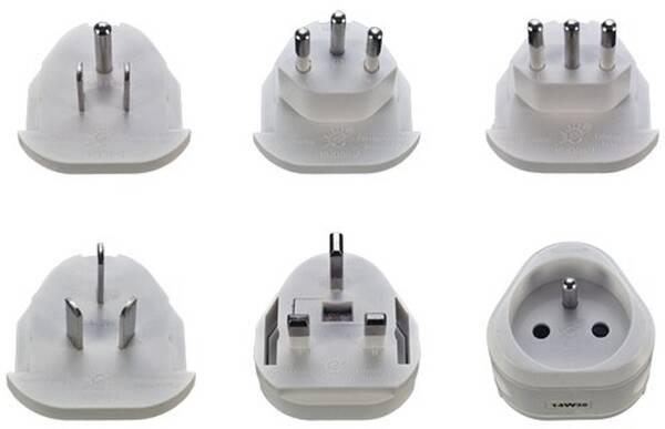 Cestovní adaptér Solight výměnné vidlice pro celý svět (368243)