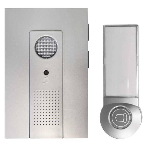 Zvonek bezdrátový EMOS 98105, na baterie, 100m (361752) stříbrný