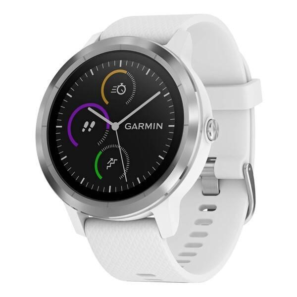 Chytré hodinky Garmin vívoActive3 Optic (010-01769-22) strieborné biele ... c136f1ba0c