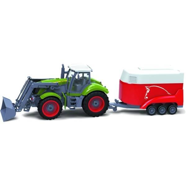 RC traktor Buddy Toys BRC 28.611, 1:28, Traktor + príves (379932)