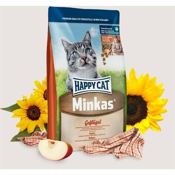 Granule HAPPY CAT ADULT Minkas Geflügel - Drůbež 10 kg