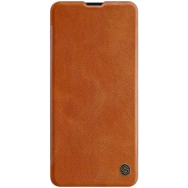 Pouzdro na mobil flipové Nillkin Qin Book na Samsung Galaxy A70 hnědé