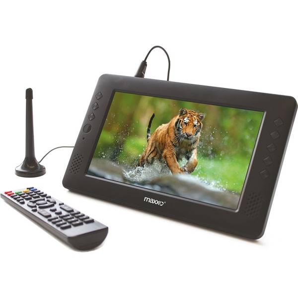 Televízor Maxxo mini TV HD – T2 HEVC/H.265 čierny
