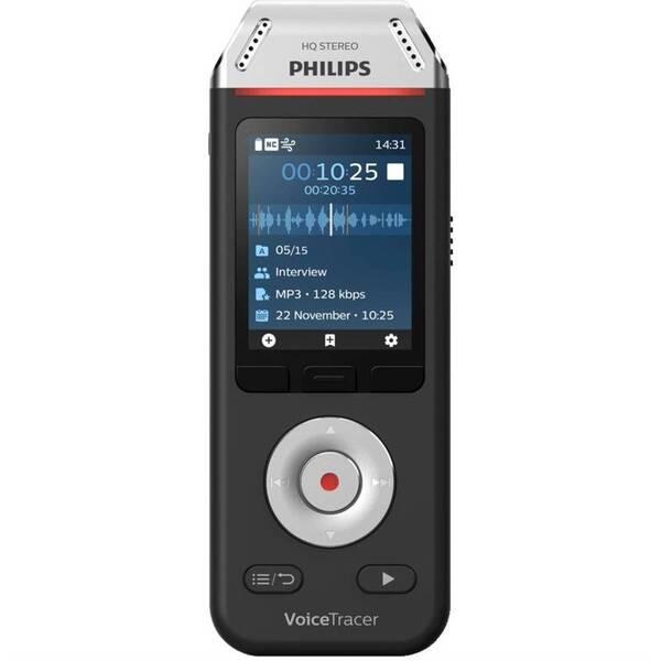 Diktafon Philips DVT2110 černý/stříbrný (vrácené zboží 8800569663)