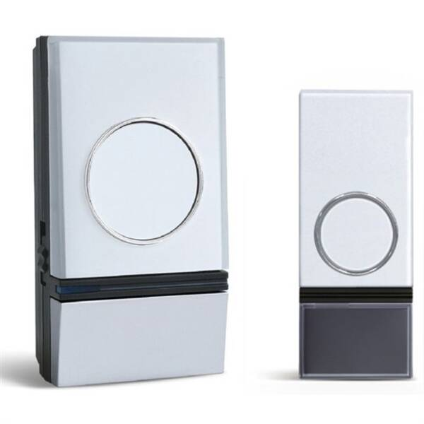 Zvonek bezdrátový Solight 1L28, do zásuvky, 200m (1L28) stříbrný/bílý