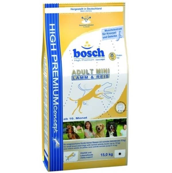 Granule Bosch Adult Mini jehněčí 15 kg, pro dospělé psy