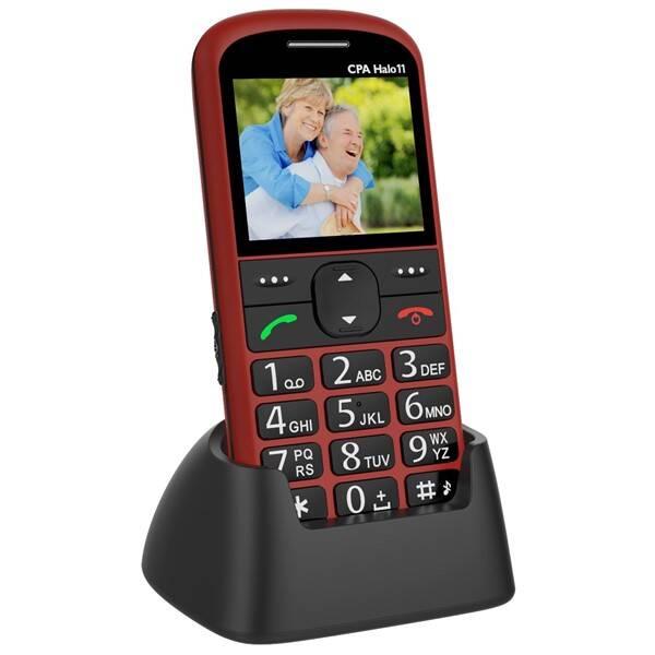 Mobilní telefon CPA Halo 11 Senior (TELMY1011RE) červený (vrácené zboží 8800148180)