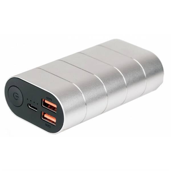 Powerbank Verbatim 10000 mAh, USB-C PD, QC 3.0 (49573) stříbrná