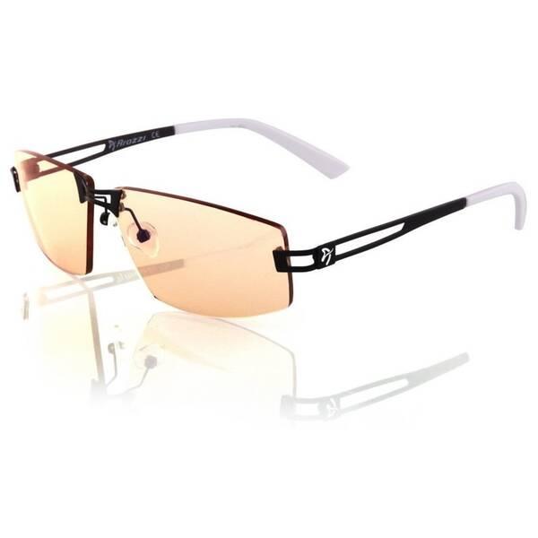 Herné okuliare Arozzi VISIONE VX-600, jantarová skla (VX600-1) čierne/biele