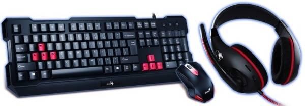 Klávesnice s myší Genius GX Gaming GX Gaming KHM-200 + headset (31280230105) černá/červená (vrácené zboží 8800411195)