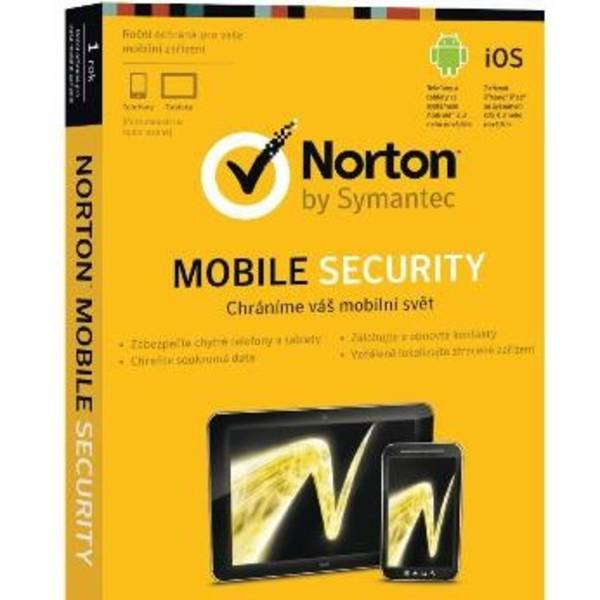 Software Symantec Norton Mobile Security 3.0 CZ 1 user (21243127)