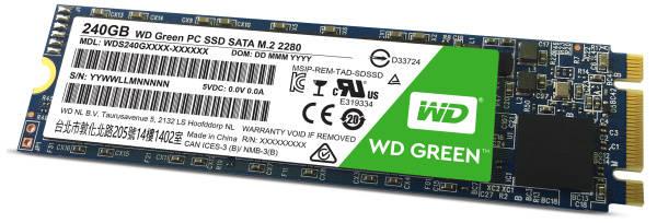 SSD Western Digital Green M.2 3D NAND 240 GB (WDS240G2G0B)
