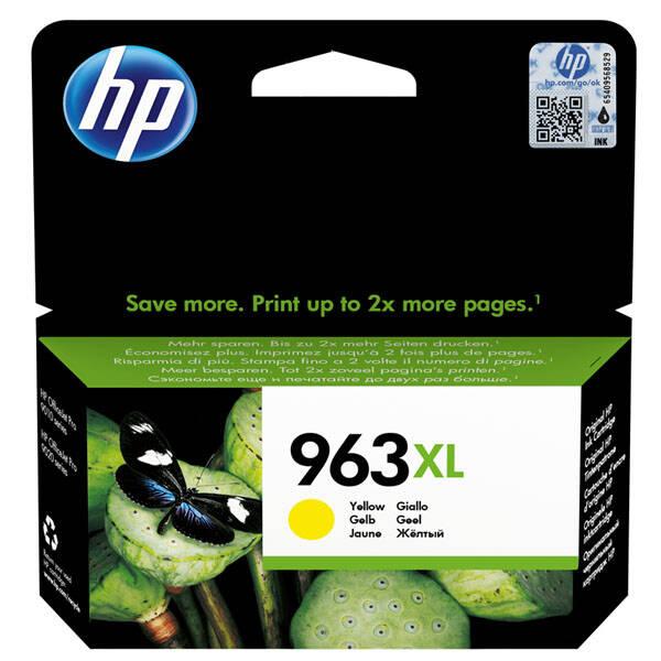 Inkoustová náplň HP 963XL, 1600 stran (3JA29AE) žlutá