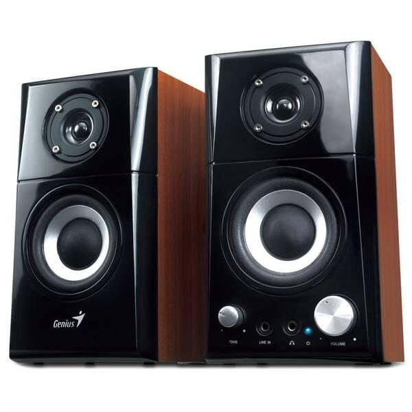 Reproduktory Genius SP-HF 500A 2.0 Ver. II (31730032400) černé/dřevo