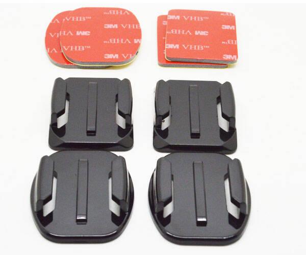 Sada držáků Niceboy 2 rovné, 2 zaoblené + 3M nálepky (N10) černá