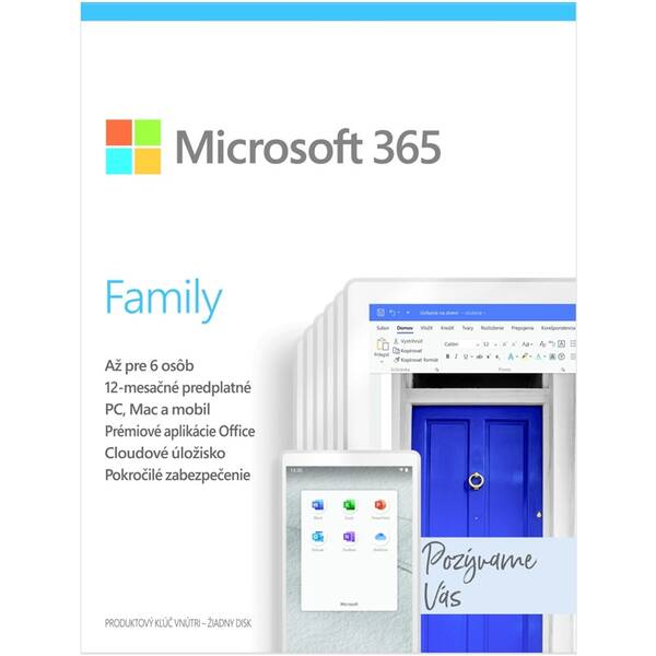 Software Microsoft 365 Family SK (6GQ-01165)