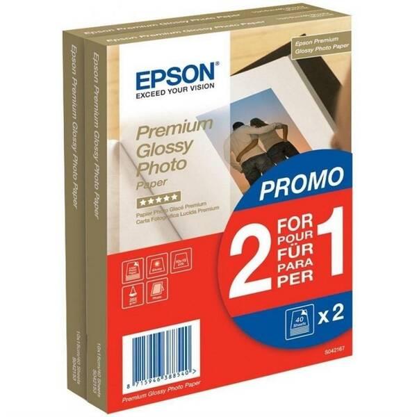 Fotopapír Epson Premium Glossy Photo 10x15, 225g, 80 listů (C13S042167) bílý