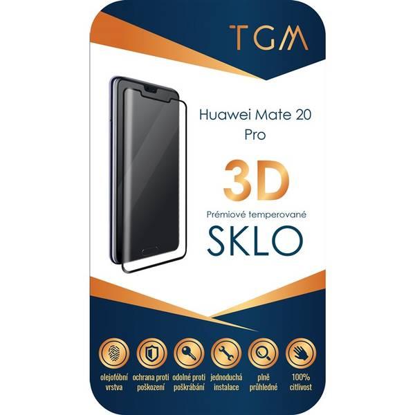 Ochranné sklo TGM 3D pro Huawei Mate 20 Pro (TGMHUAWM20PBK) černé (vrácené zboží 8800229741)