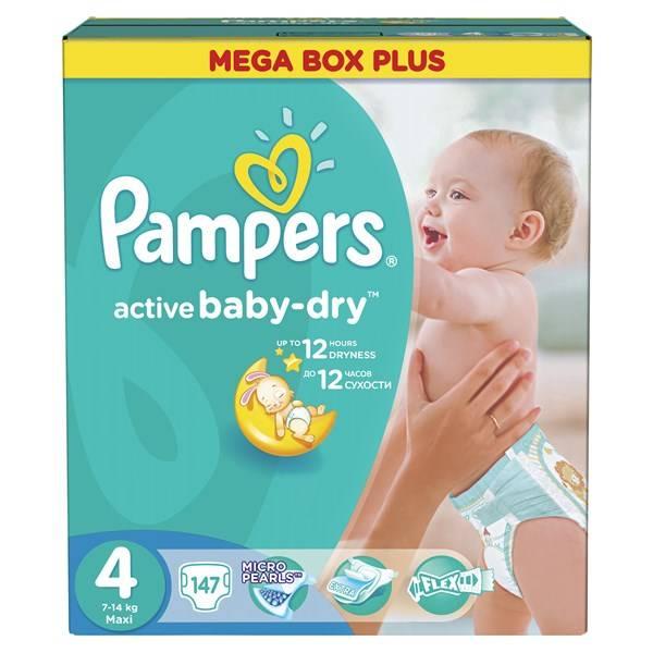 Plenky Pampers Active Baby-dry vel.4  Maxi, 147ks