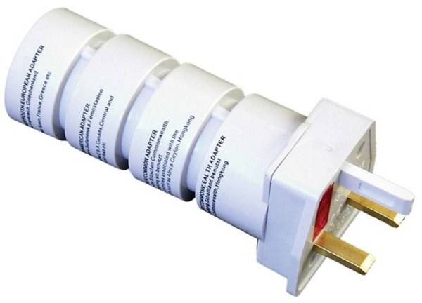 Cestovný adaptér Solight souprava UK, USA, AUS, AFR (PA21) biely