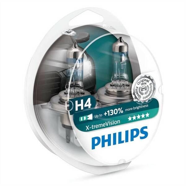 Autožárovka Philips X-tremeVision H4, 2ks (12342XV+S2)