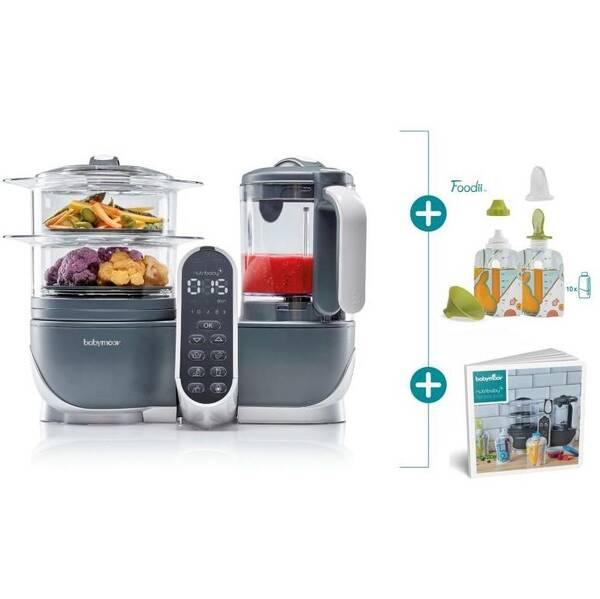 Multifunkčný prístroj Babymoov Nutribaby+ Industrial Grey + Foodii