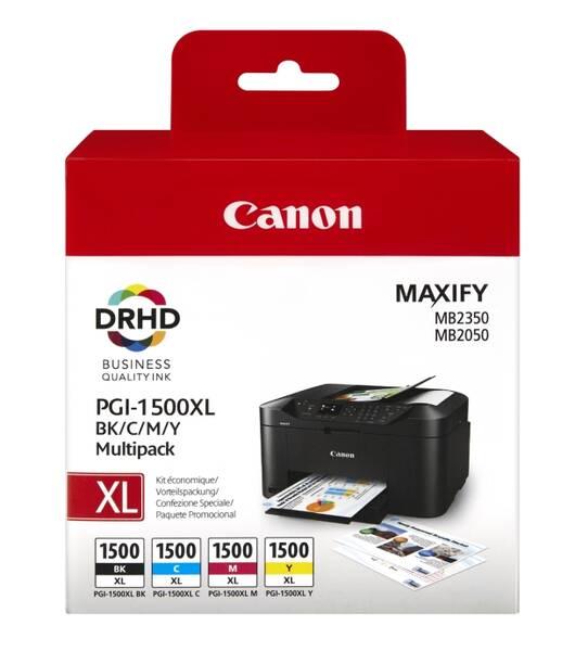 Inkoustová náplň Canon PGI-1500XL, 1200/935 stran, BK/C/M/Y (9182B004)