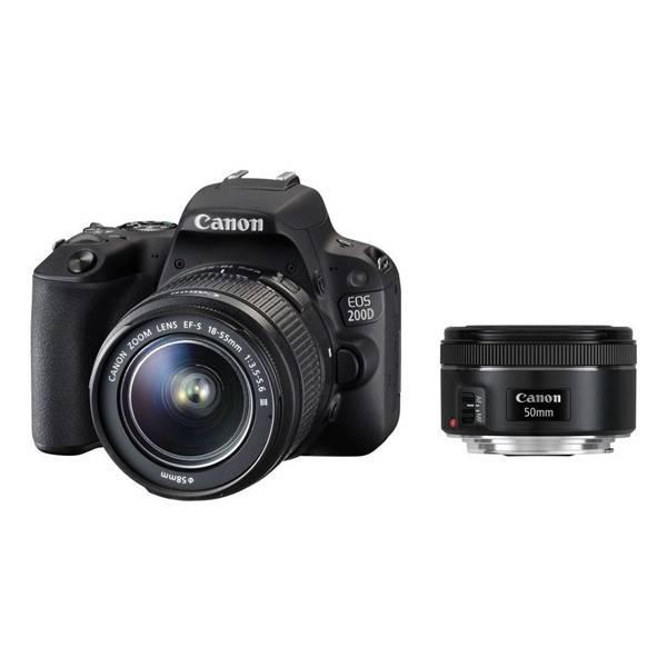 Digitální fotoaparát Canon EOS 200D + 18-55 IS STM + 50 f/1.8 STM (2250C022) černý (vrácené zboží 8800307215)
